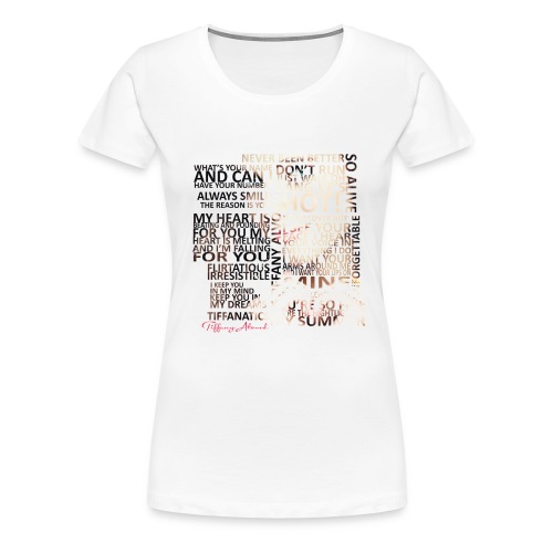 Tiffany Typography - Women's Premium T-Shirt