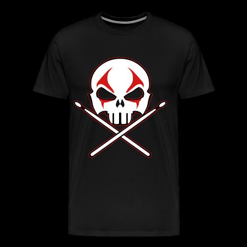 Rock and Roll Drummer Shirt Death Metal Drummer - Men's Premium T-Shirt