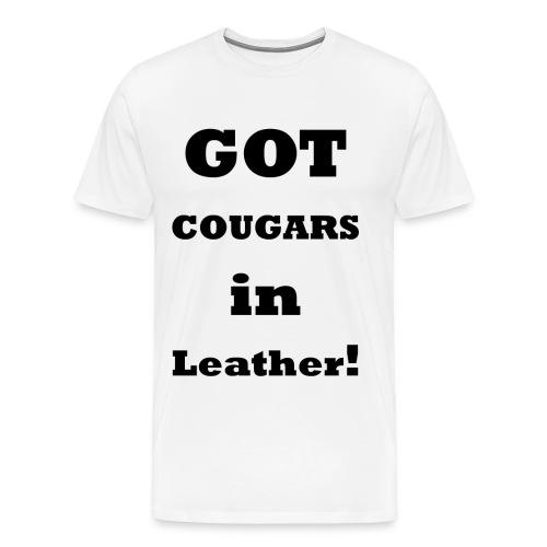 Cougars in Leather 2    BLA224 - Men's Premium T-Shirt