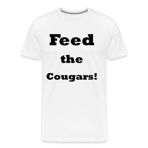 Feed the Cougars    BLA231 - Men's Premium T-Shirt