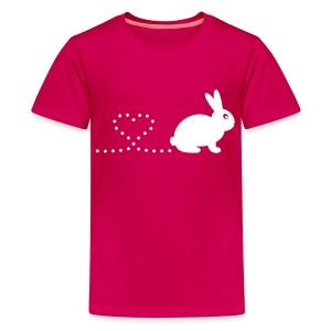 'Pooping Heart Rabbit' Children's T-Shirt - Kids' Premium T-Shirt