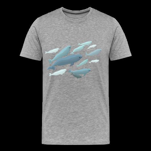 Beluga Whale T-Shirts 4XL Plus Size  Beluga Shirts - Men's Premium T-Shirt