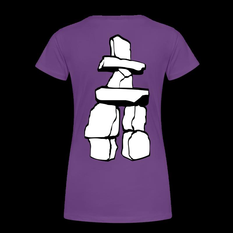 Vancouver Souvenir Ladies Shirts Inukshuk Plus Size T-shirt - Women's Premium T-Shirt