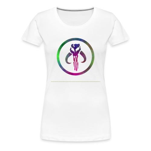 Mythosaur skull - rainbow swirl F - Women's Premium T-Shirt