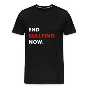 END BULLYING NOW - WHITE & RED FLEX/FUTURA FONT - Men's Premium T-Shirt