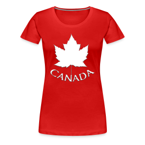 Women's Canada T-shirt Souvenir Canadian Maple Leaf Ladies Shirt - Women's Premium T-Shirt