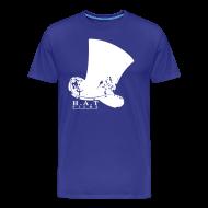 T-Shirts ~ Men's Premium T-Shirt ~ Official Hat Films Full Frontal (White Logo)