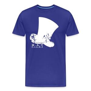 Official Hat Films Full Frontal (White Logo) - Men's Premium T-Shirt
