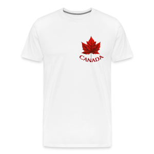 Canada Maple Leaf Souvenir Men's T- Shirt  - Men's Premium T-Shirt