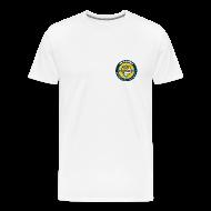 T-Shirts ~ Men's Premium T-Shirt ~ T-Shirt - Small Logo Front, Large Logo Back