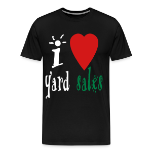 I heart yard sales - Men's Premium T-Shirt