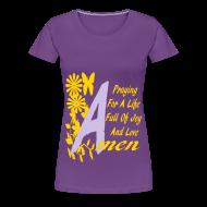 Women's T-Shirts ~ Women's Premium T-Shirt ~ Praying for a life....
