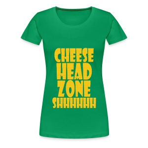 Cheesehead Zone Shhh Junior - Women's Premium T-Shirt