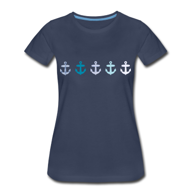 Nautical Blue Anchor Design Women's T-Shirts