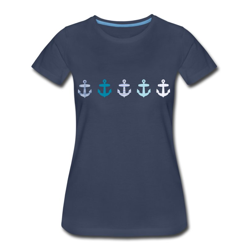 Nautical Blue Anchor Design T Shirt Spreadshirt