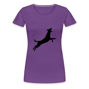 Leaping Good Fun Dog - Women's Premium T-Shirt