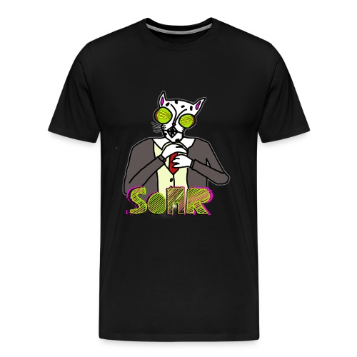 SoaR Sniping Corrupt Cat T-Shirt - Men's Premium T-Shirt
