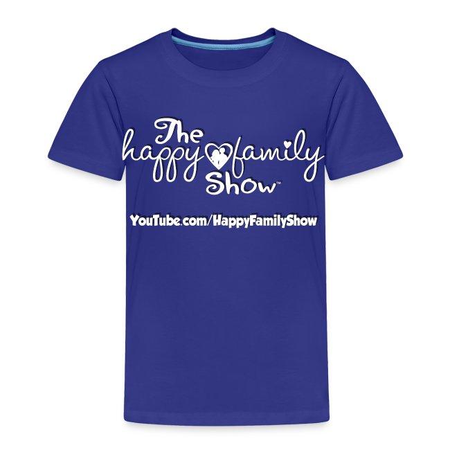 Happy Family Show Toddler white logo T-shirt