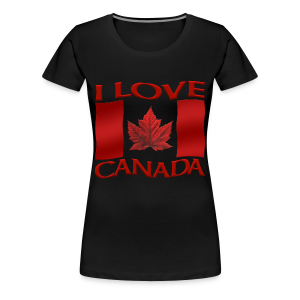 Women's Canada T-shirt I Love Canada Plus Size Shirts Souvenir - Women's Premium T-Shirt