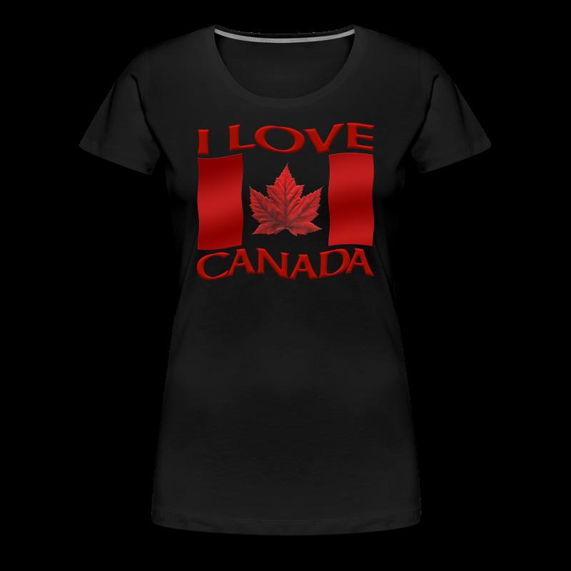 I Love Canada Shirt Women's Shirt Canada Shirt - Women's Premium T-Shirt