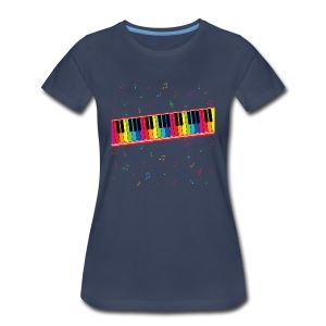 Colorful Piano - Women's Premium T-Shirt