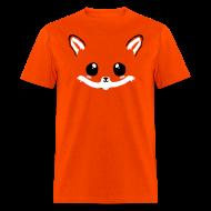 T-Shirts ~ Men's T-Shirt ~ kawaii fox tee with back tail print!