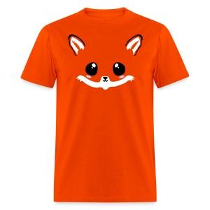 kawaii fox tee with back tail print! - Men's T-Shirt