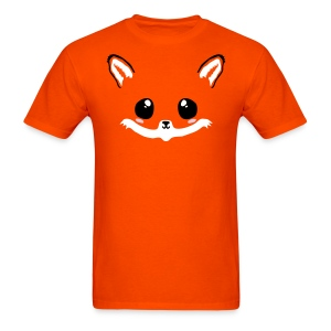 kawaii fox tee with back tail print! - Men's T-Shirt