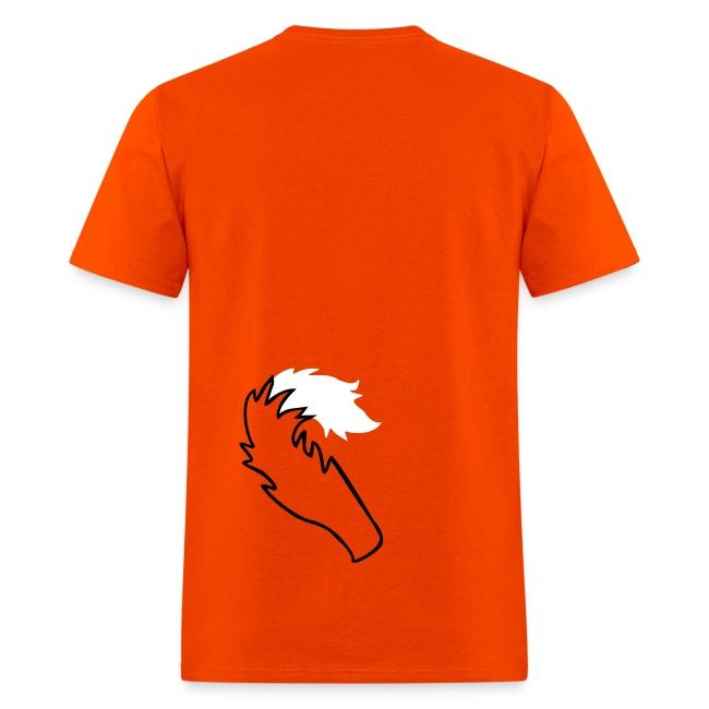 kawaii fox tee with back tail print!