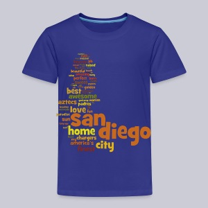 San Diego Words - Toddler Premium T-Shirt