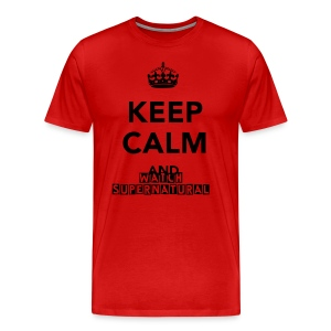 Keep calm and watch Supernatural Mens heavy weight tee - Men's Premium T-Shirt