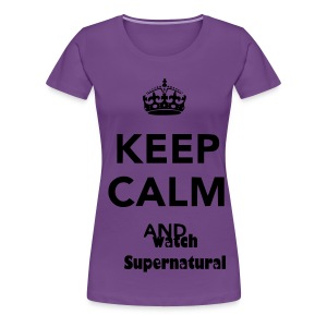 KEEP CALM AND WATCH SUPERNATURAL WOMENS PLUS TEE - Women's Premium T-Shirt