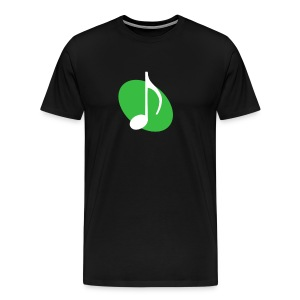 Green Music Emblem - Men's Premium T-Shirt