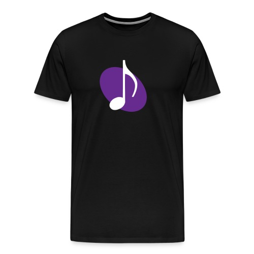 Purple Music Emblem - Men's Premium T-Shirt
