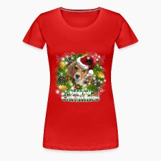 Merry Christmas Beagle Women's T-Shirts