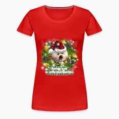 Merry Christmas Bichon Frise Women's T-Shirts