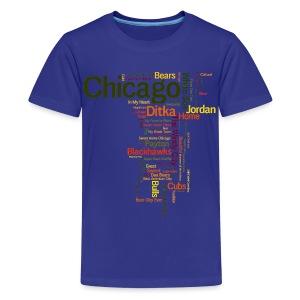 Chicago Words - Kids' Premium T-Shirt