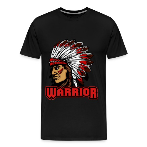 Native American Warrior - Men's Premium T-Shirt