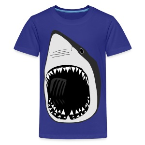 animal t-shirt white shark jaws fish fishing diver scuba diving sharks - Kids' Premium T-Shirt