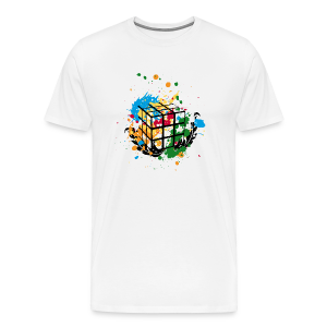 Rubik's Cube Colour Splatters - Men's Premium T-Shirt