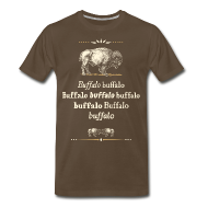 T-Shirts ~ Men's Premium T-Shirt ~ 3xl: Buffalo Buffalo T-shirt (brown)