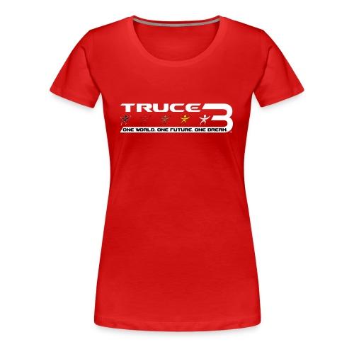 Truce 3 World Peace Womens T-shirt Red - Women's Premium T-Shirt