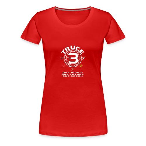 Truce 3 Globe Womens T-shirt Red - Women's Premium T-Shirt