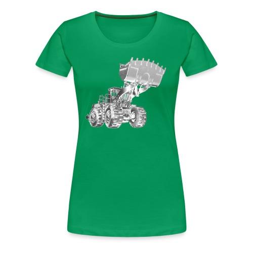 Old Mining Wheel Loader - Women's Premium T-Shirt