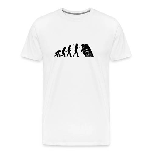 EvPhil Logo on White - Men's Premium T-Shirt