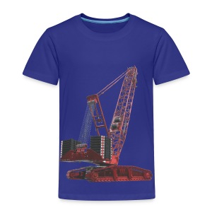 Crawler Crane 750t - Red - Toddler Premium T-Shirt