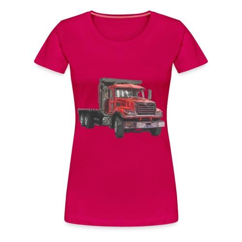Flatbed Truck - Red - Women's Premium T-Shirt