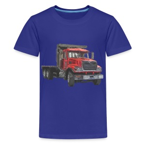 Flatbed Truck - Red - Kids' Premium T-Shirt