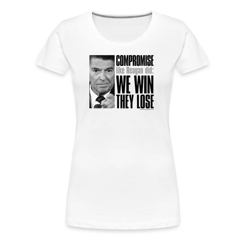 Reagan on Compromise - Women's Premium T-Shirt