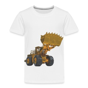 Old Mining Wheel Loader - Yellow - Toddler Premium T-Shirt